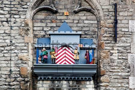 Grunge vecchio blu porta città santorini Foto d'archivio © photocreo