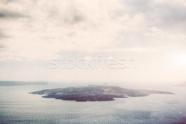島 サントリーニ ギリシャ アクティブ 火山 ストックフォト © photocreo
