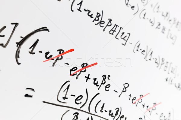 Complejo matemáticas fórmulas matemáticas ciencia Foto stock © photocreo