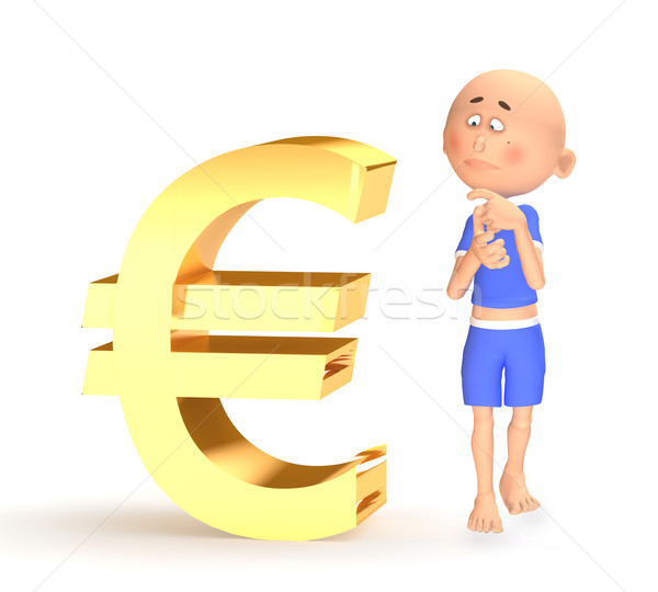 Euro financial crisis concept Stock photo © photocreo