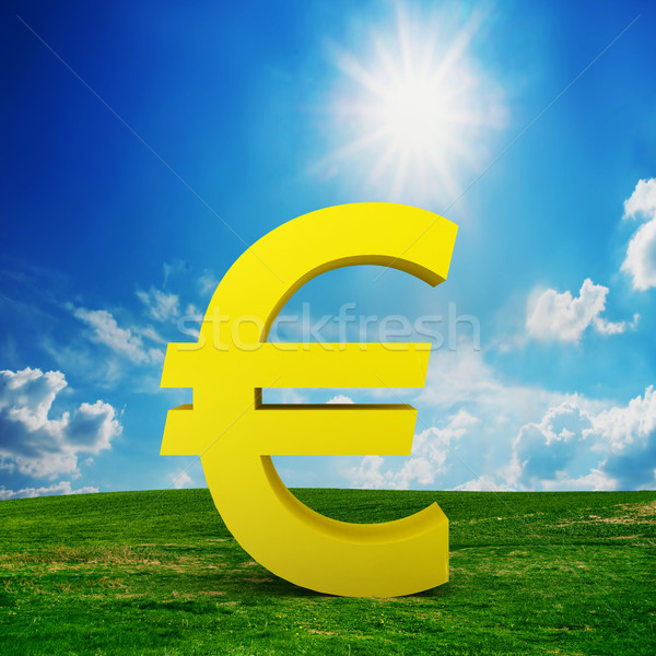 EURO currency model on the field Stock photo © photocreo