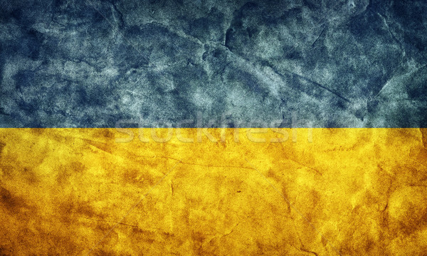 Ukraine grunge flag. Item from my vintage, retro flags collection Stock photo © photocreo