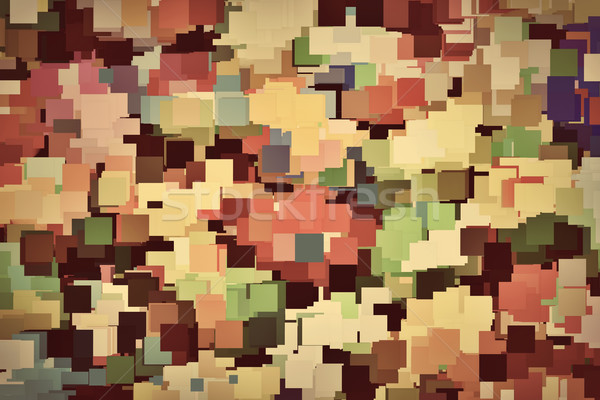 Colorful squares background in vintage sepia tint Stock photo © photocreo
