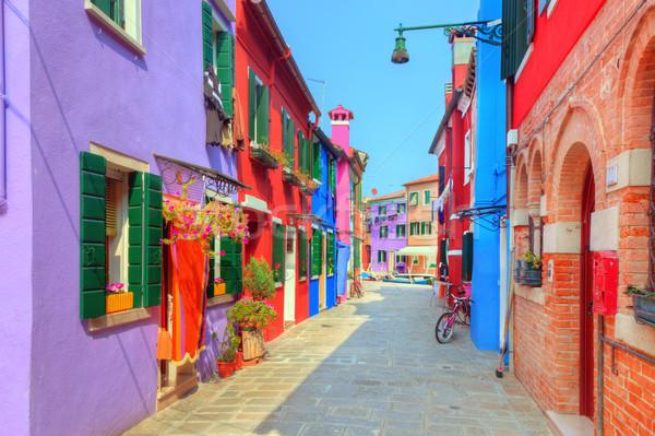 красочный домах острове Венеция Италия очаровательный Сток-фото © photocreo
