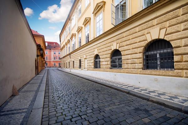 Praga arhitectura veche stradă rutier Imagine de stoc © photocreo