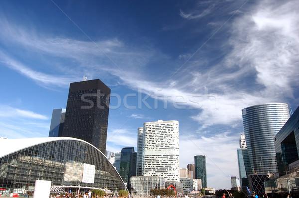 Affaires architecture Paris ciel bureau bâtiment Photo stock © photocreo