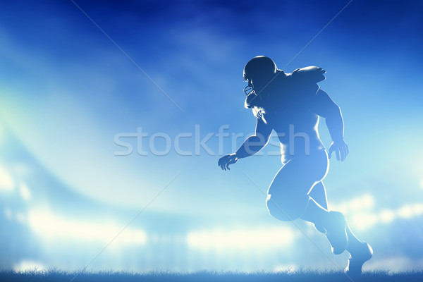 アメリカン サッカー プレーヤー ゲーム を実行して スタジアム ストックフォト © photocreo