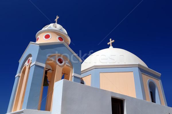 Branco igreja santorini ilha Grécia arquitetura Foto stock © photocreo