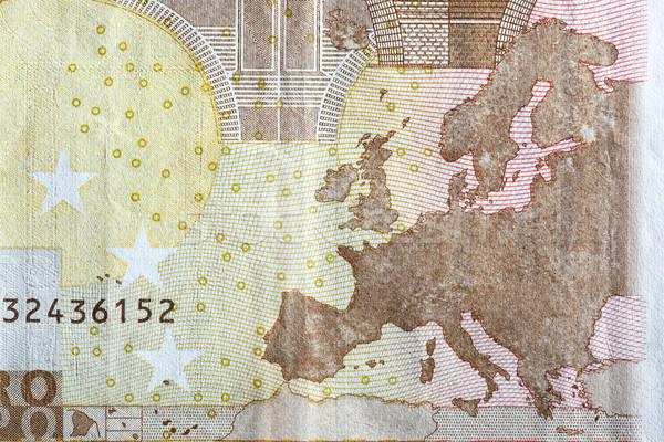 地図 ヨーロッパ ユーロ ヨーロッパの 通貨 ストックフォト © photocreo