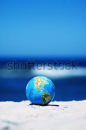 Earth globe. Conceptual image Stock photo © photocreo