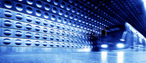 Subterrâneo trem dinâmico movimento filme cinematográfico fundo Foto stock © photocreo