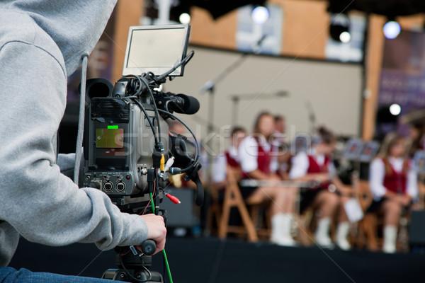 Video camera operator working Stock photo © photocreo