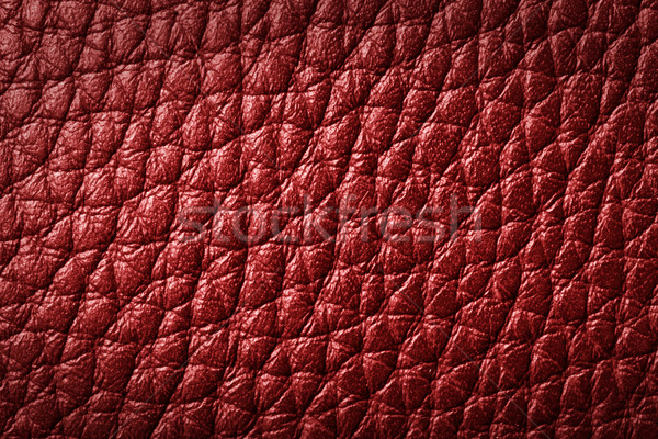 Genuine red leather background, pattern Stock photo © photocreo