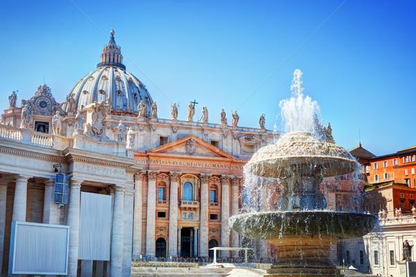 Fontanna placu Watykan wody budynku budynków Zdjęcia stock © photocreo