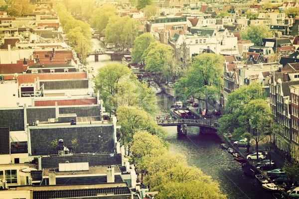 Amsterdam panorama Holland Paesi Bassi città canale Foto d'archivio © photocreo