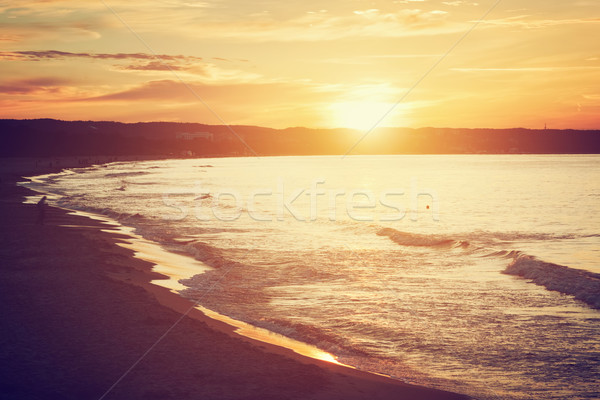 Sea at sunset. Gdansk, Sopot in Poland. Baltic sea. Stock photo © photocreo