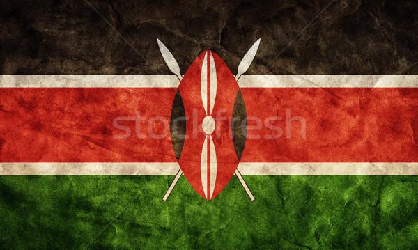 Stockfoto: Kenia · grunge · vlag · item · mijn · vintage