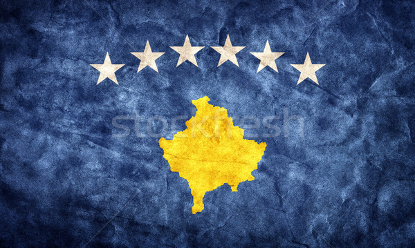 Kosovo grunge flag. Item from my vintage, retro flags collection Stock photo © photocreo