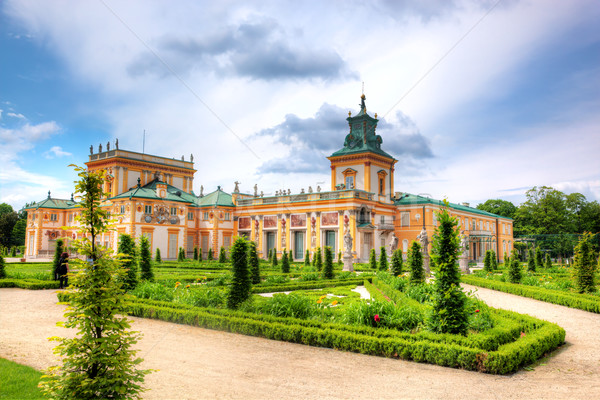 Palais Varsovie Pologne royal vue ville Photo stock © photocreo