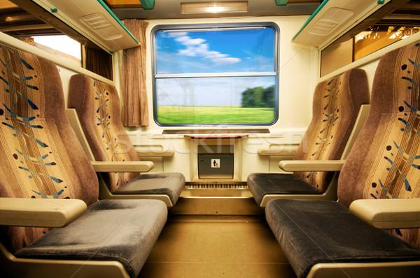 Stock fotó: Utazás · kényelmes · vonat · kilátás · üzlet · nyár