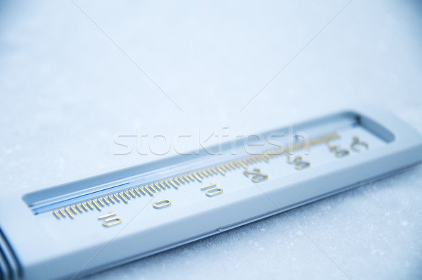 Below zero on thermometer. Stock photo © photocreo