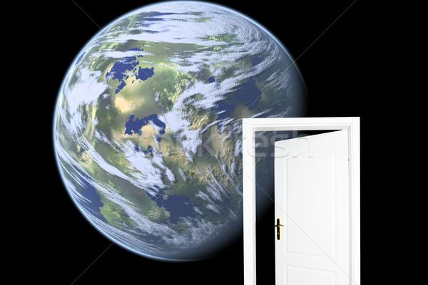 Photo stock: Porte · nouvelle · monde · espace · version · paysage