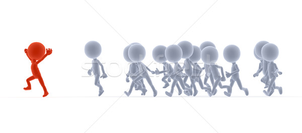 Toon people running, competition concepts Stock photo © photocreo