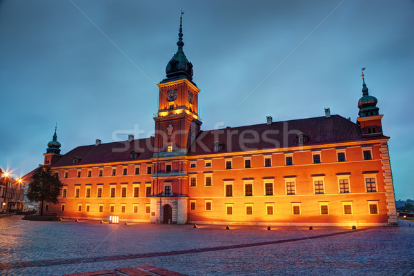 Royal Castle in Warsaw, Poland at the evening Stock photo © photocreo