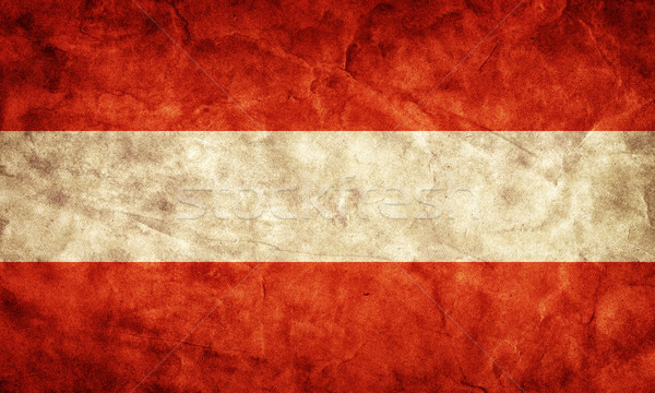 Austria grunge flag. Item from my vintage, retro flags collection Stock photo © photocreo