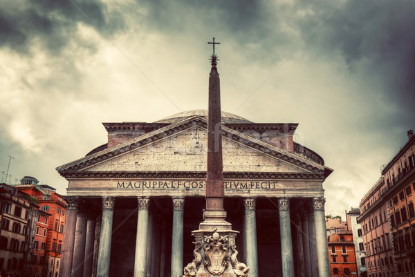 The Pantheon in Rome, Italy.  Vintage Stock photo © photocreo