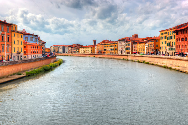 Arno river in Pisa, Tuscany, Italy. Stock photo © photocreo