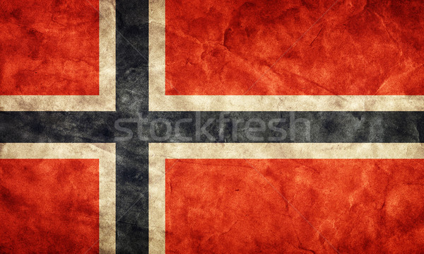 Norway grunge flag. Item from my vintage, retro flags collection Stock photo © photocreo