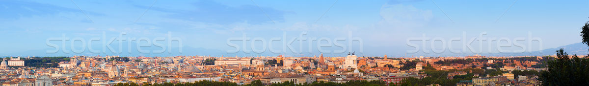 Ultra wide panorama of Rome, Italy.  Stock photo © photocreo