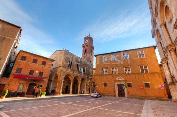 старый город Тоскана Италия исторический город центр Сток-фото © photocreo