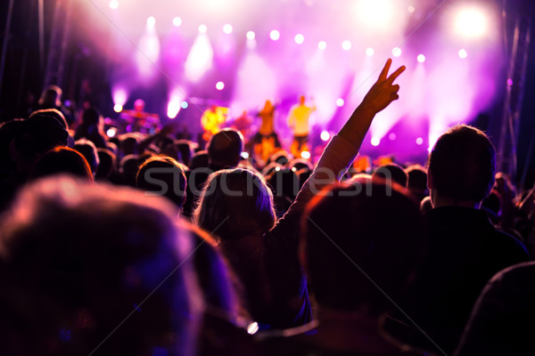 Stock photo: People on music concert