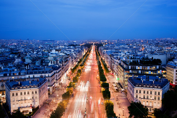 Stock photo: Avenue des Champs-Elysees in Paris, France at night