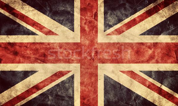 Zdjęcia stock: Zjednoczone · Królestwo · grunge · banderą · pozycja · mój · vintage