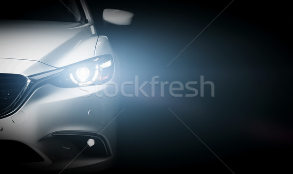 Modern luxury car close-up banner background Stock photo © photocreo
