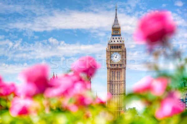 ビッグベン ロンドン 表示 公共 庭園 美しい ストックフォト © photocreo