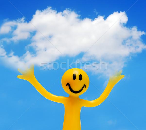 Cara feliz nube blanco espacio de la copia primavera Foto stock © photocreo