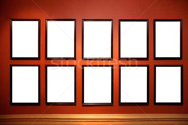 Art gallery pictures. White empy inside Stock photo © photocreo