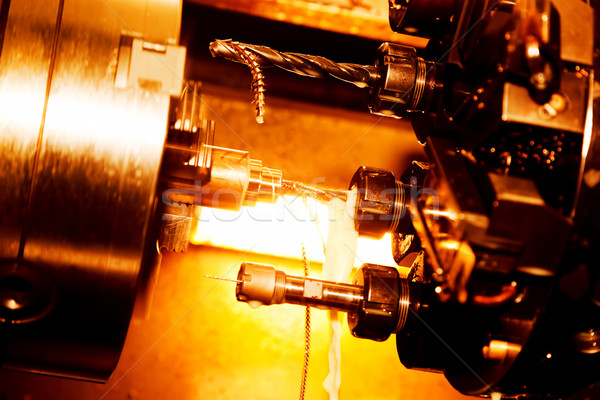 Industrial CNC drilling and boring machine at work Stock photo © photocreo