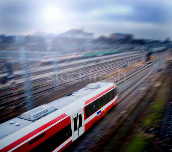 Fast train with motion blur Stock photo © photocreo