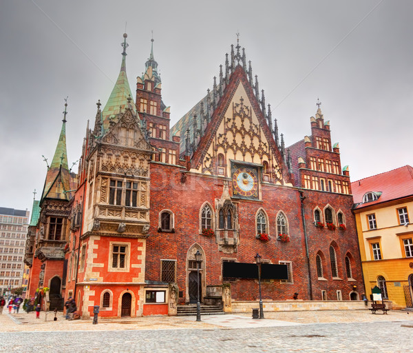 Wroclaw, Poland. The Town Hall on market square. Silesia Stock photo © photocreo