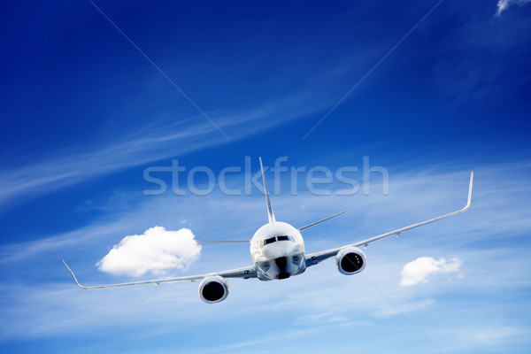 Stock photo: Airplane taking off. A big passenger or cargo aircraft, airline flying. Transportation