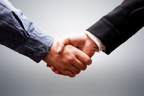 Iş el sıkışma anlaşma başarı sözleşme işbirliği Stok fotoğraf © photocreo