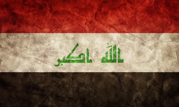 Irak grunge bayrak madde benim bağbozumu Stok fotoğraf © photocreo