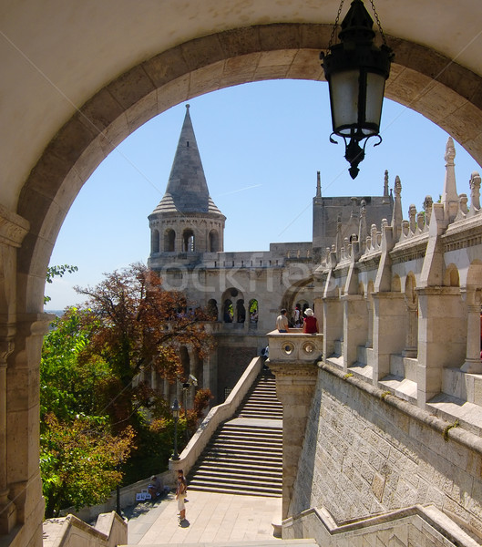 Wieża bastion zamek Hill Budapeszt Zdjęcia stock © photocreo
