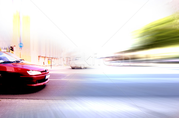 Stockfoto: Abstract · groot · stad · spitsuur · beweging · wazig