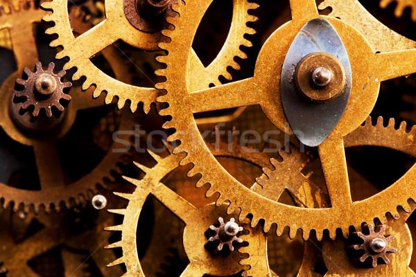 Grunge gear, cog wheels background. Industrial science, clockwork, technology. Stock photo © photocreo